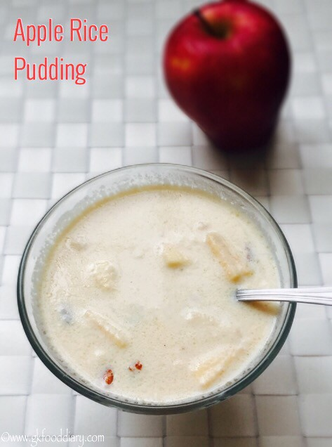 Apple Rice Pudding Recipe for Babies, Toddlers and Kids1