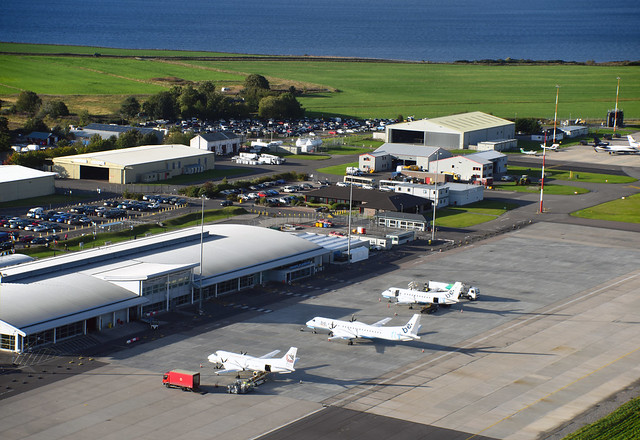 Inverness Airport terminal aerial image