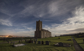 Tamlaghtard Parish Church in Magilligan at Full Moon | by john.purvis