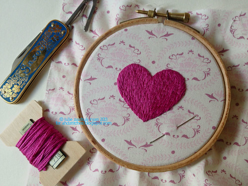 Long and short stitch tutorial on stitches today
