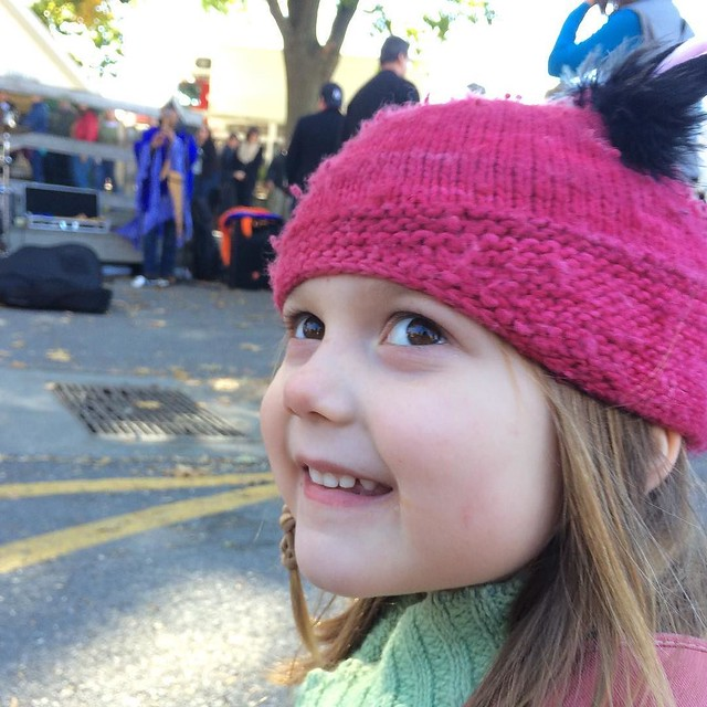 This kid loves pan flute music. Also, her eyes are so brown and beautiful! Would've never guessed I'd have a brown-eyed girl. #latergram