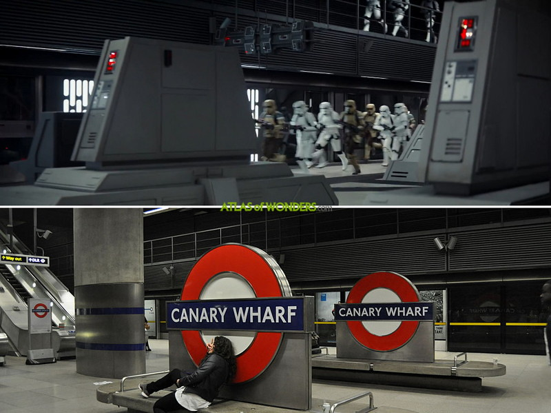 Star Wars in Canary Wharf