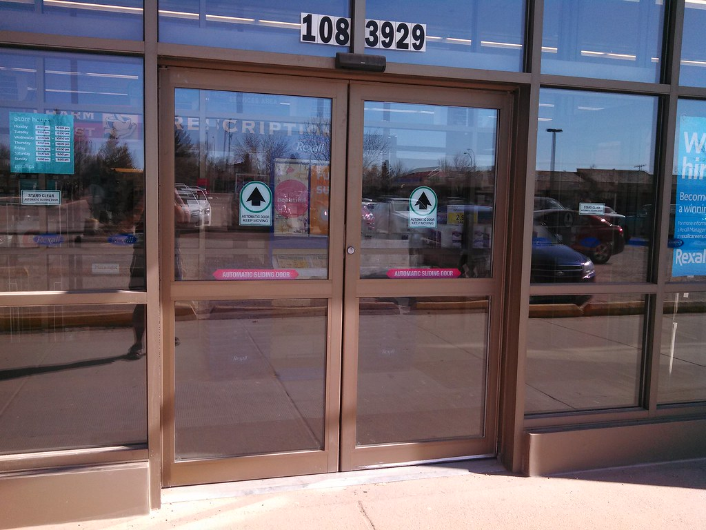 Automatic sliding doors at rexall the store