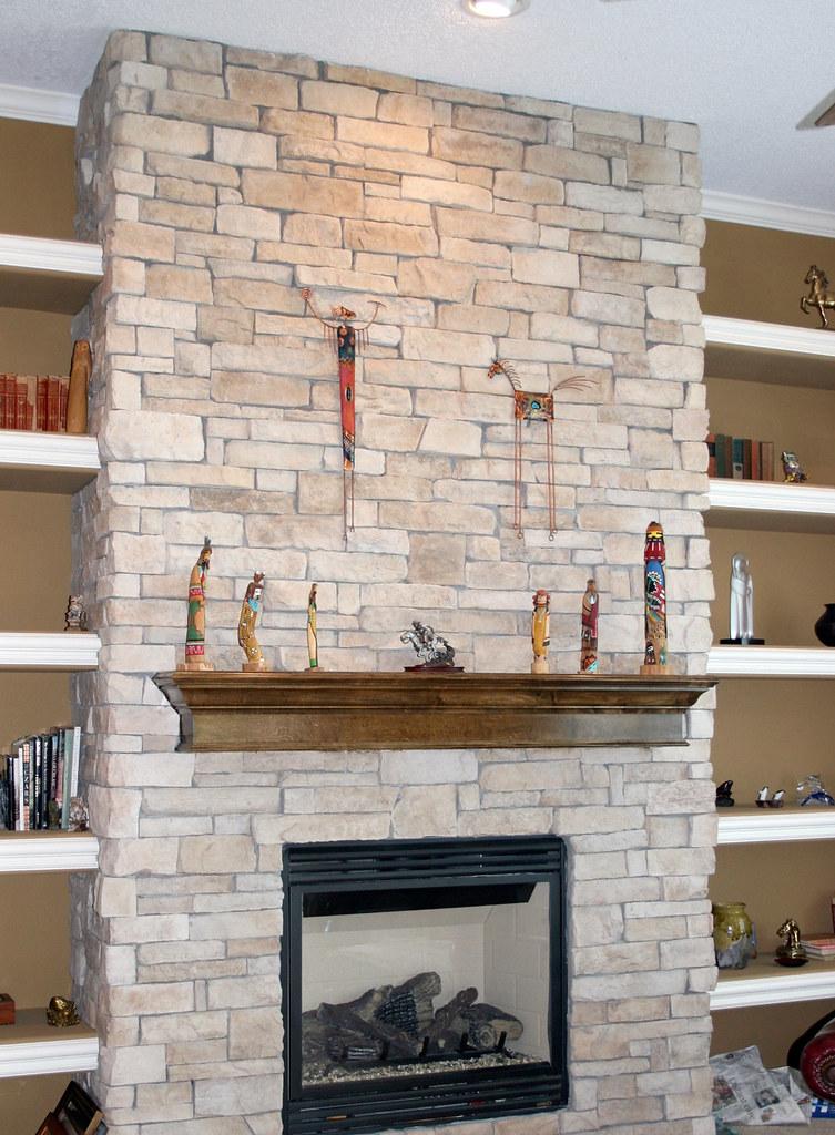 CANYON LEDGE TEXAS CREAM stone fireplace ideas stone walls