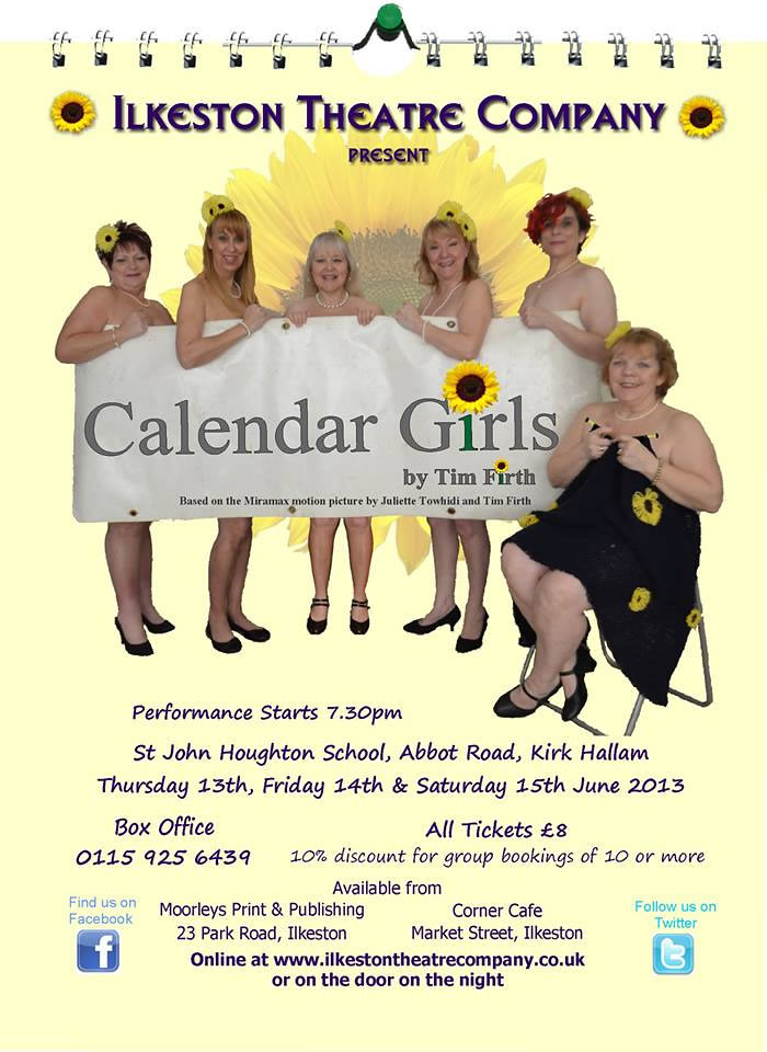 Calendar Girl June Kindle : Ilkeston theatre company present calendar girls june