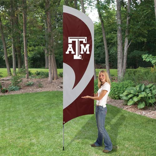 Texas A&M Tall Feather Flag