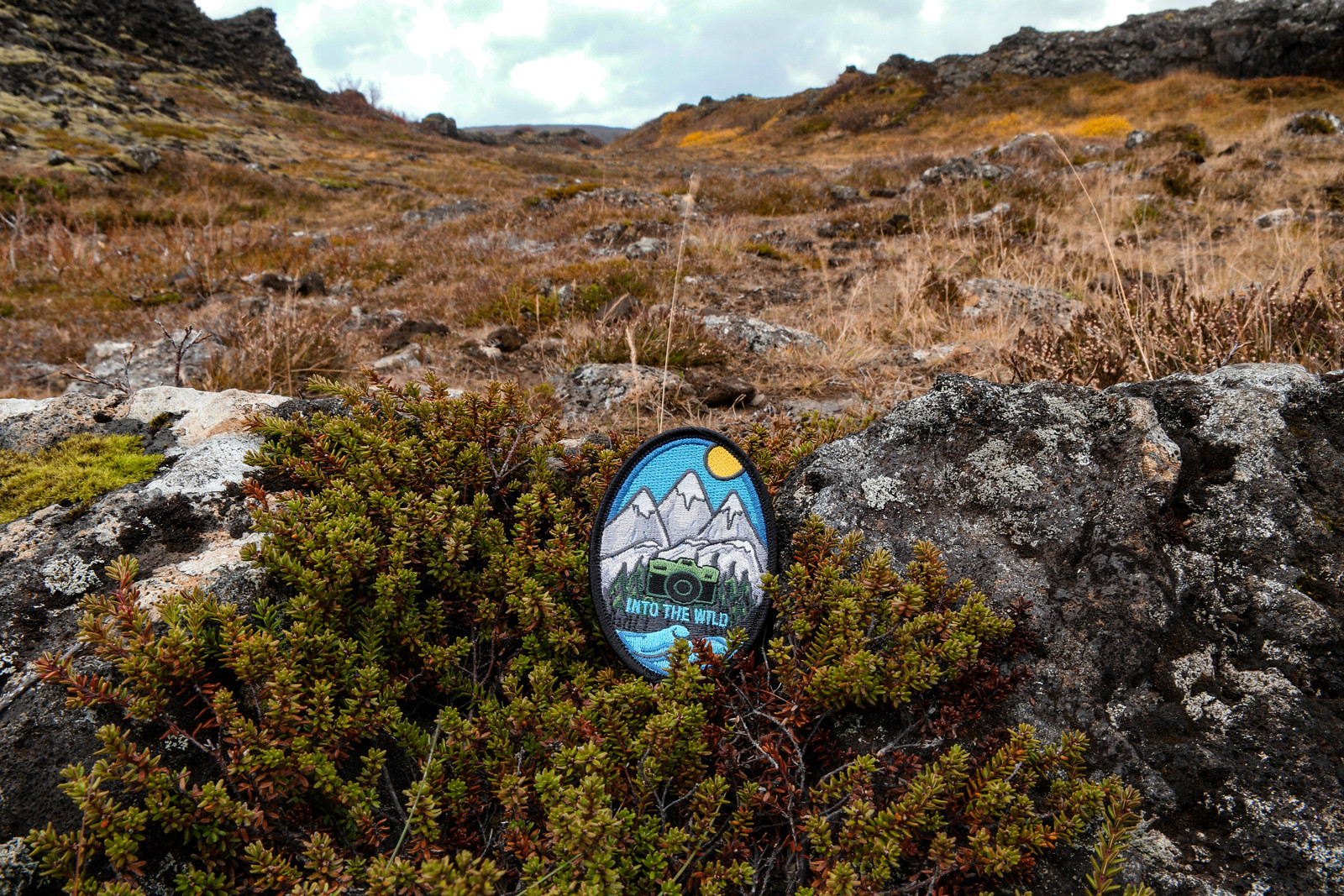Into The Wild Patches at Búrfellsgjá