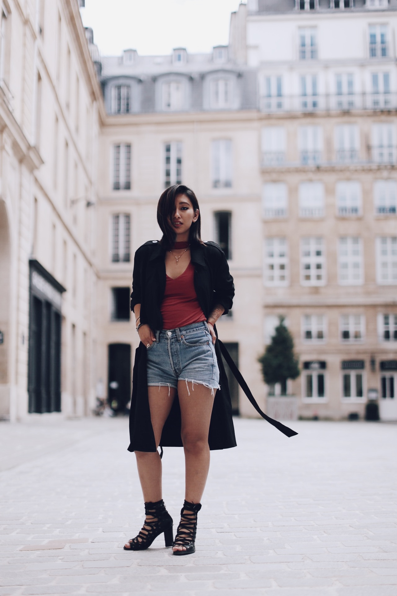 chaussures à talons avec lacets rosapelsblog