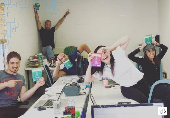 Leap Team (faltando o Matt) em mais um dia normal de trabalho