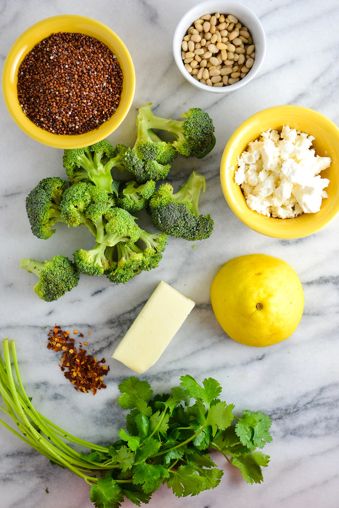 Brown Butter Broccoli Over Quinoa and Feta| Things I Made Today