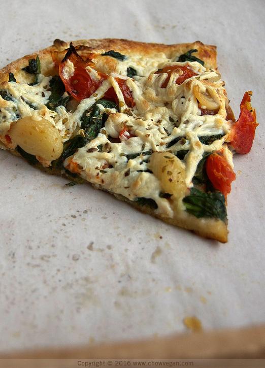 Patxi's Vegan Thin Crust Pizza Slice