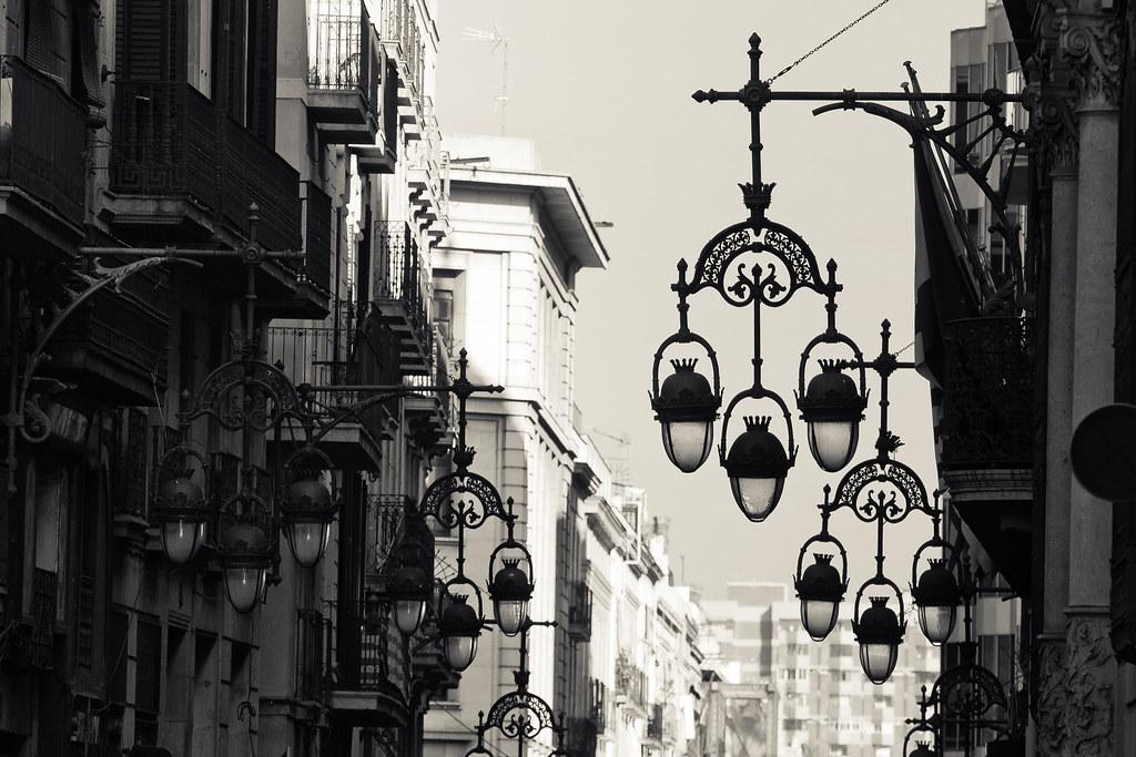 Street lamps Barcelona