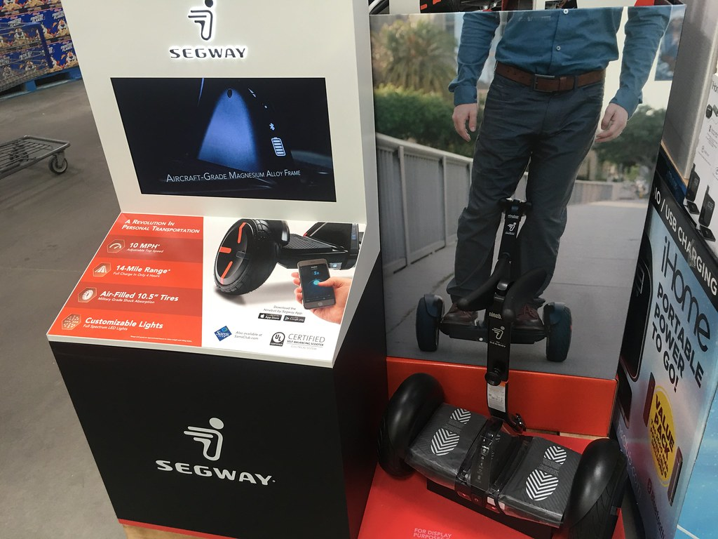 Segway Display, Sam\'s Club, 9/2016, pics by Mike Mozart of… | Flickr