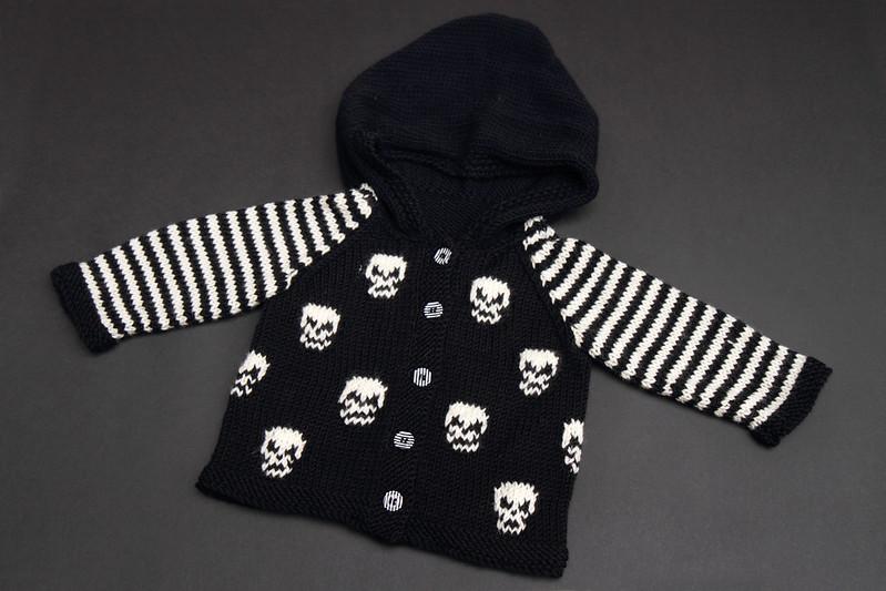 Skull baby cardigan
