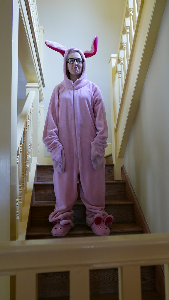 384a7e7d7b I Wore A Pink Bunny Suit in the Christmas Story House – The ...
