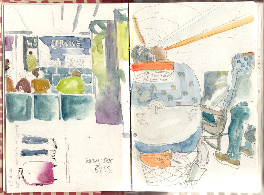 Easyjet Flight Airport Drawings On The Way To Rome And Gr Flickr