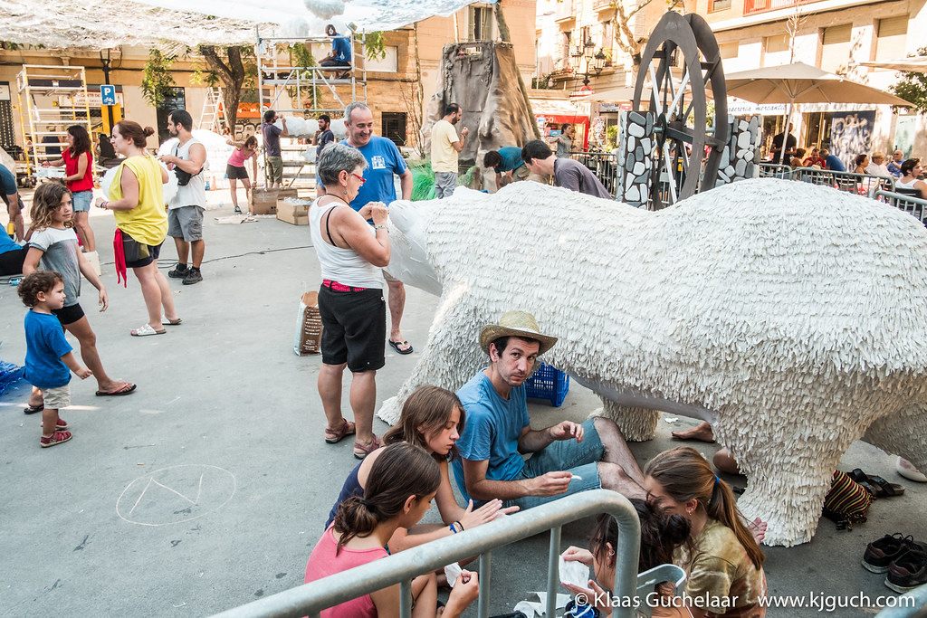Every part of the bear's skin is individually made and put in place, really. We saw it happen!