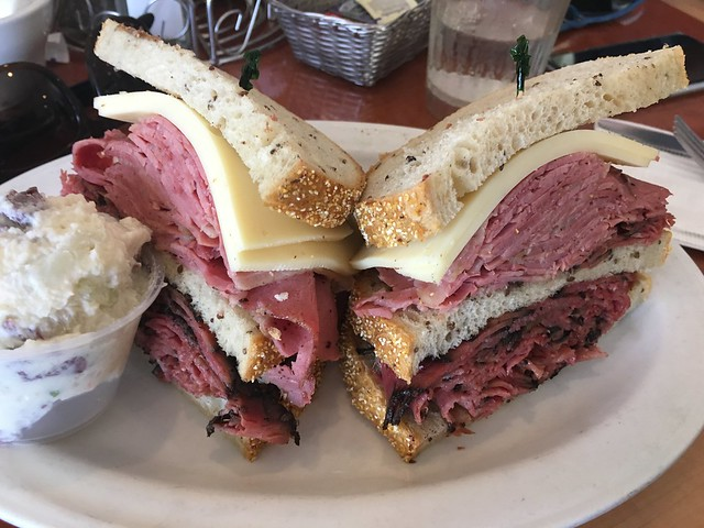 Corned beef, pastrami, swiss sandwich - Sherman's Deli and Bakery
