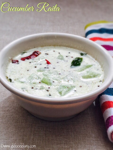 Cucumber Raita Recipe for Toddlers and Kids1