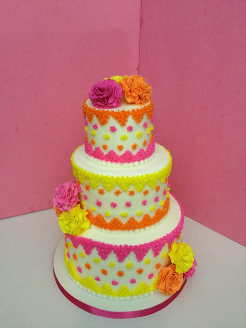 Fiesta baby shower cake all buttercream cake with - Fiesta baby shower nina ...