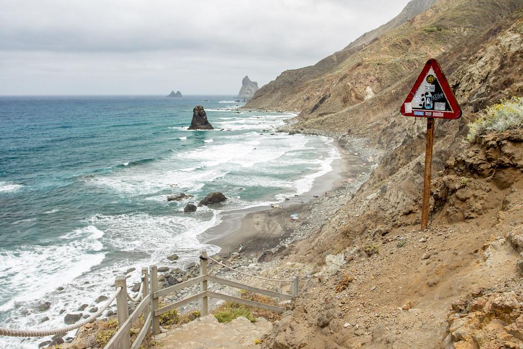 Dangerous beach Benijo - Anaga - Tenerife / Spain