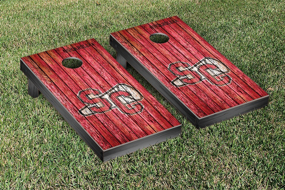 South Carolina College Vault Gamecocks Cornhole Game Weathered Version