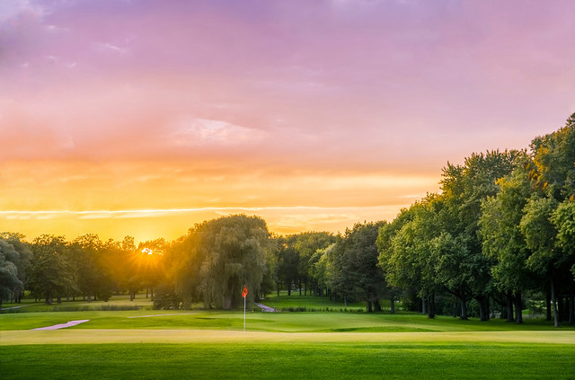 Sunset Over Brown Deer Golf Course