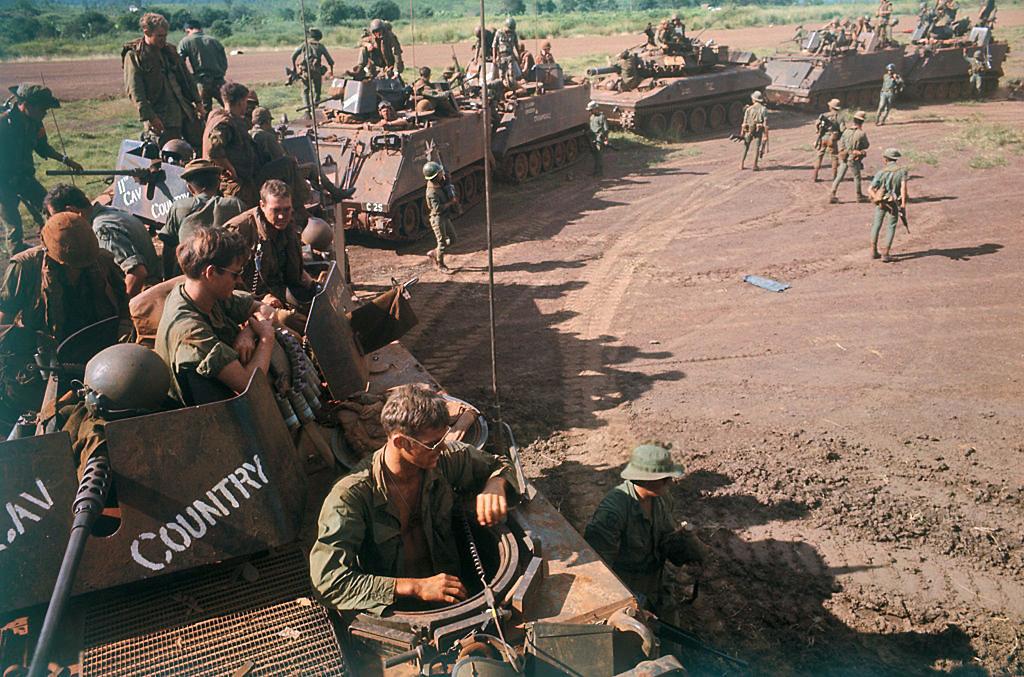 Vietnam War 1969 11th Armored Cavalry In Rubber Plantati