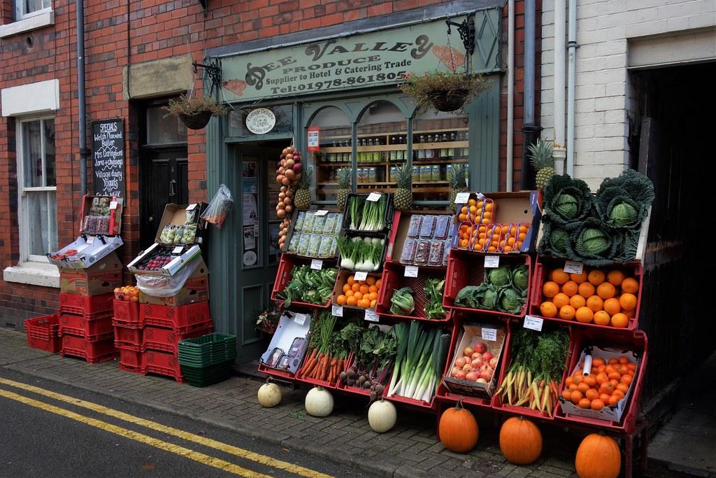Greengrocer Shop, Llangollen, Wales