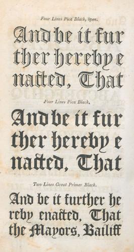 Specimen, Printers' Grammar