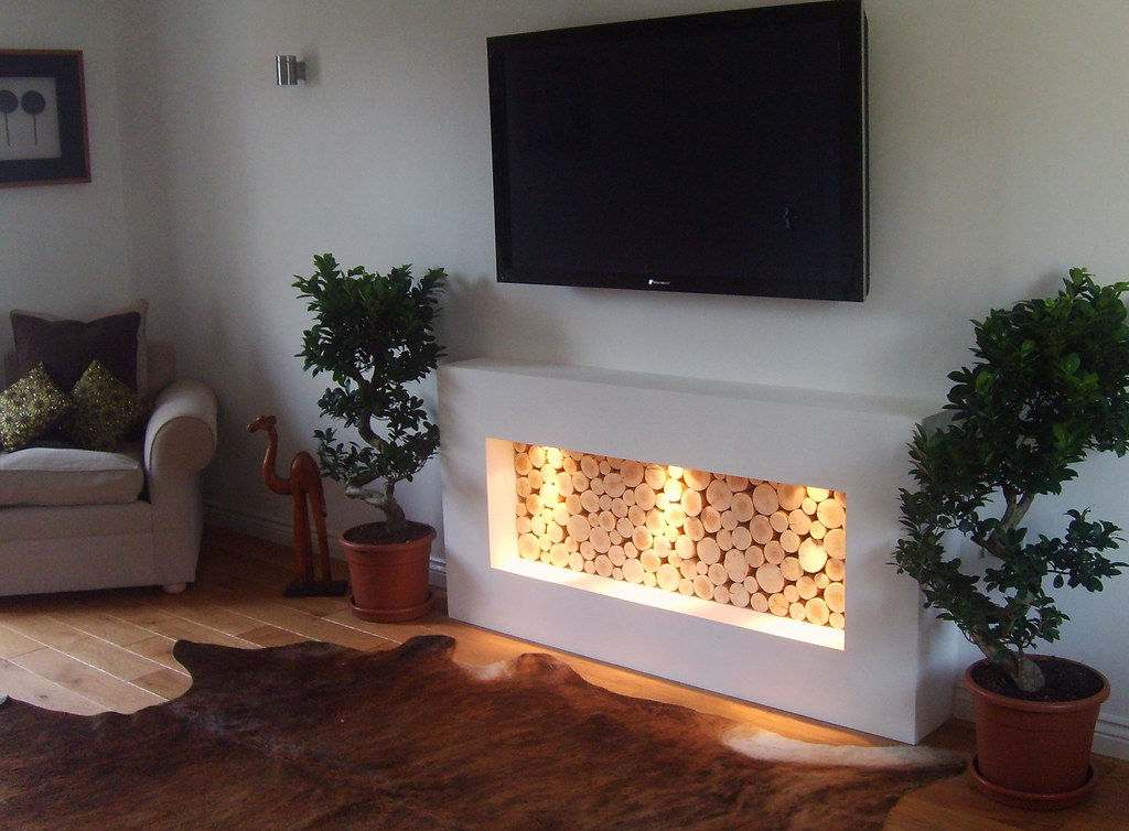 Gorgeous application of our decorative logs