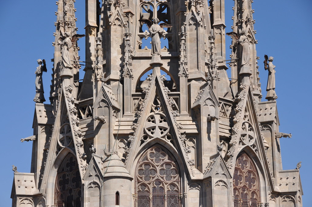 Cathedral Church Of The Holy Cross And Saint Eulalia Neo Gothic Spire