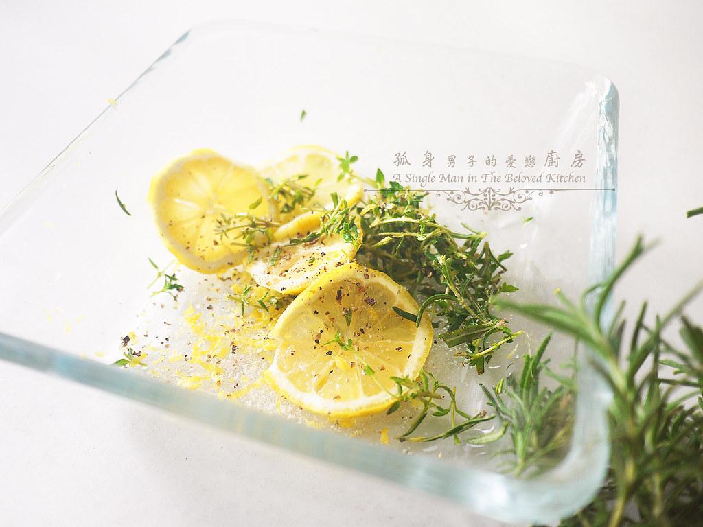 孤身廚房-烤鮭魚排佐香料烤南瓜及蒜香皇宮菜1