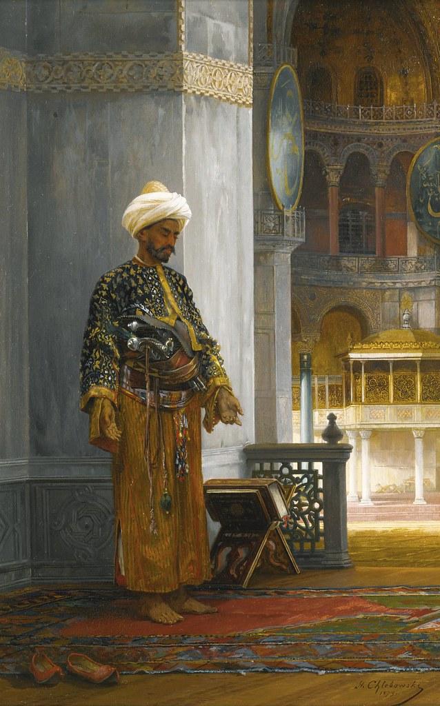 Stanislaus von Chlebowski - At Prayer, Hagia Sophia [1879 ...