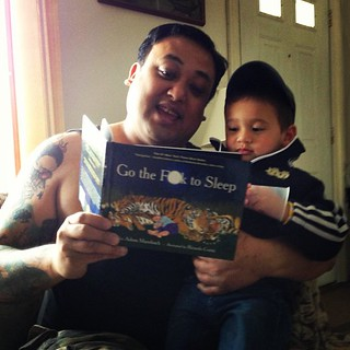 My nephew woke me up this morning. So I read him a story. #family #gothefucktosleep #nowyouknow #kids #toddler | by derfla3101980