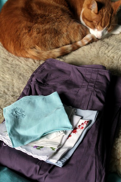 Trousers with Cat and Hankies - Misericordia