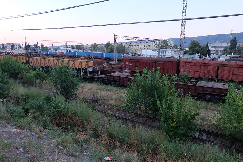 Abandoned Russian train cars in Tbilisi | With my passion fo