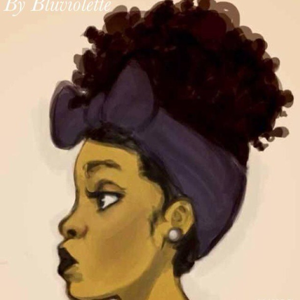 Black Girl Cartoon Natural Hair