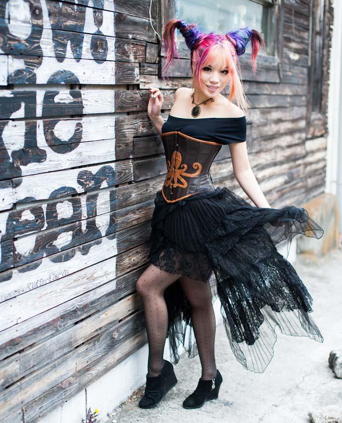Steampunk Steam Punk Corset Horn Hair Horned Hairstyle Flickr