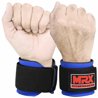 MRX neoprene wrist wraps in blue color | by MRX Products