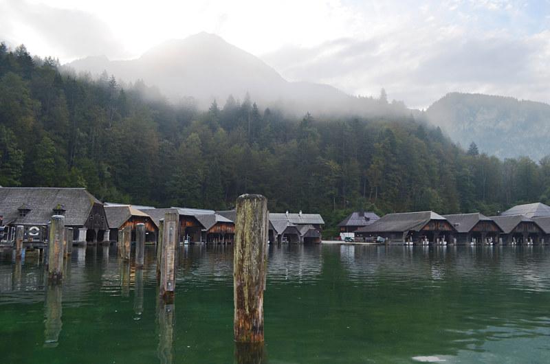 Boat huts, Konigssee, Bavaria