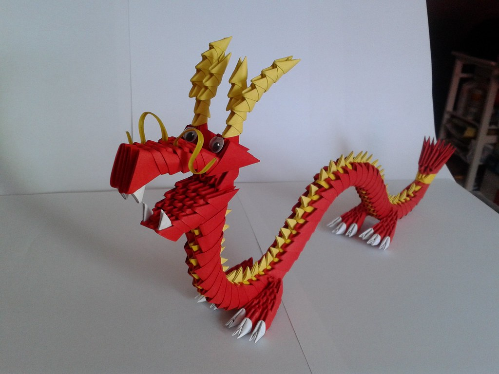 Dragon Origami 3d | Drago cinese in origami 3d | Samuel ... - photo#5
