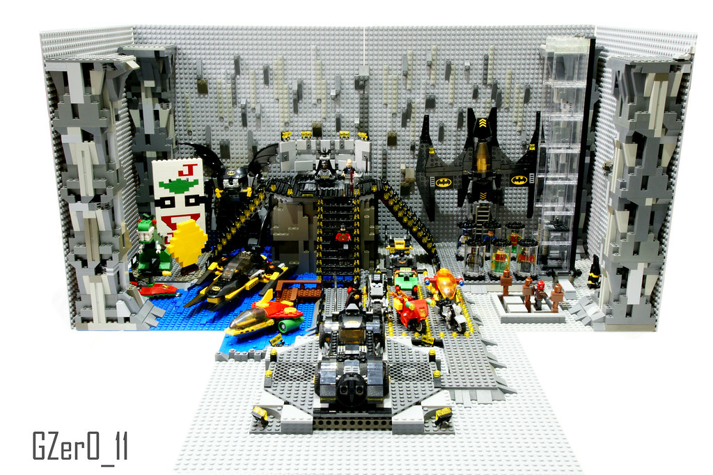 Lego Batcave Moc Front View Here You Have My First Big M Flickr