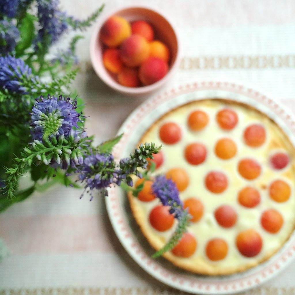 пирог цветы
