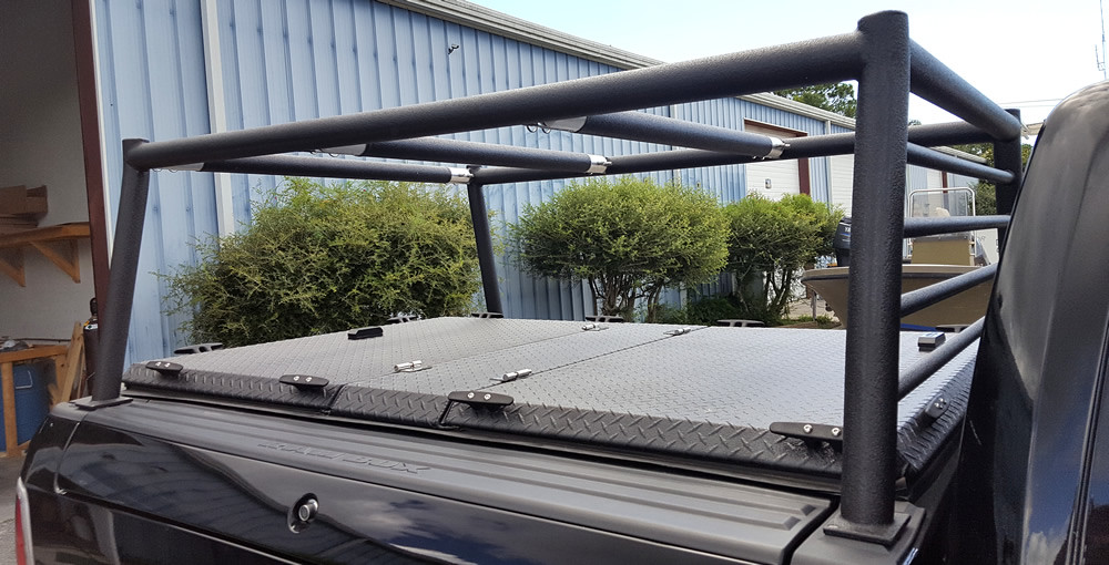 Custom Rack Amp Hard Truck Bed Cover On Ram Pickup A