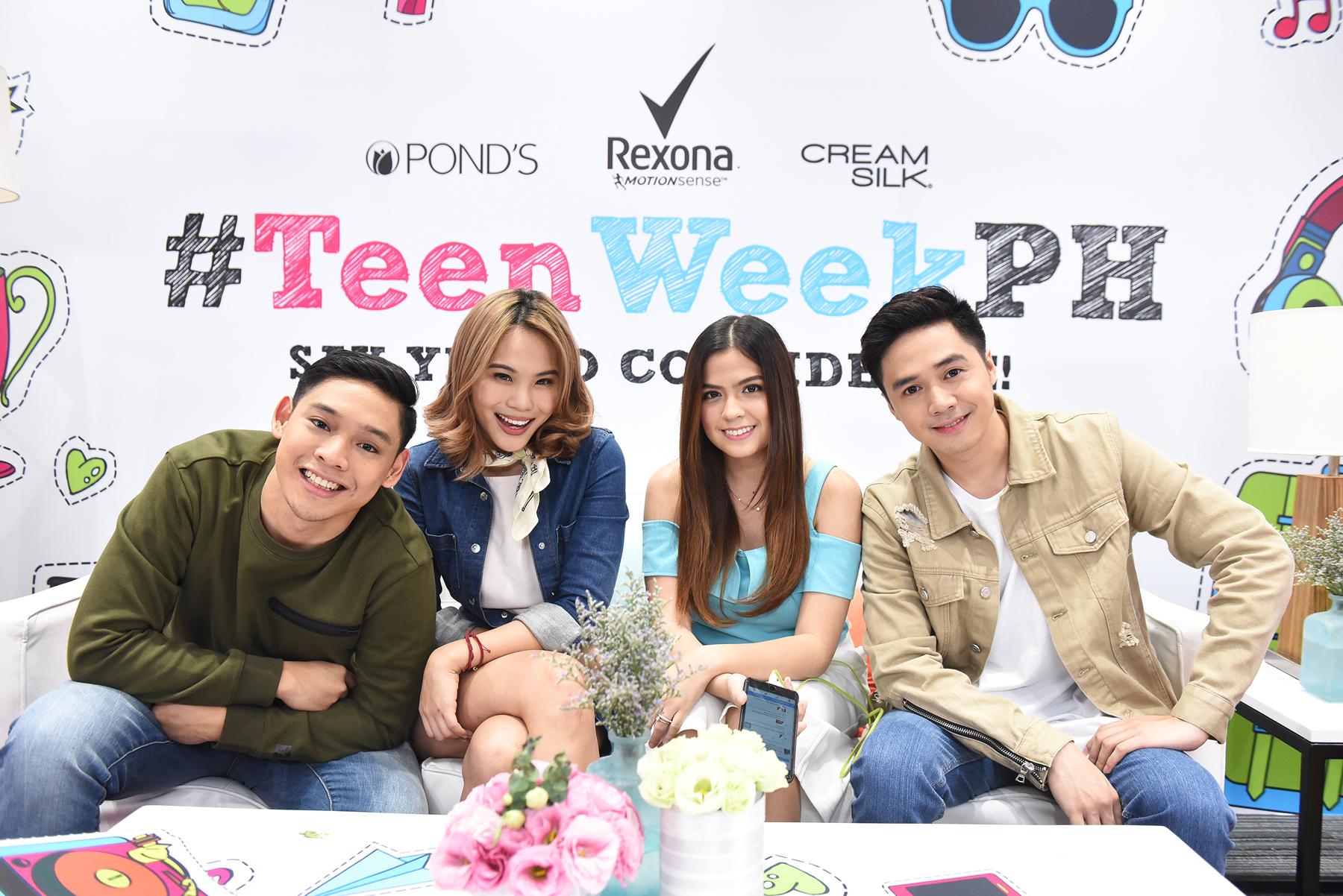 Teen Week Squad. Nikko Ramos, Jaz Reyes, Alexa Ilacad and Sam Concepcion