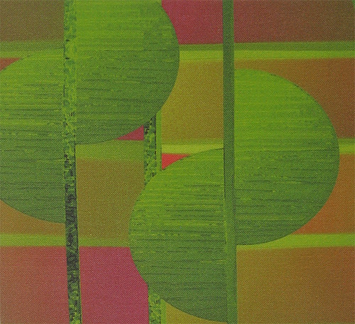 "'Lime tree': close up of a 4"" x 4"" swatch 