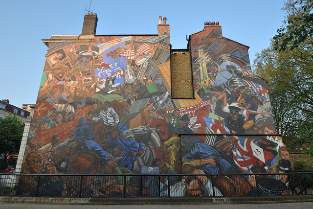 Battle of cable street mural explore stevekeiretsu 39 s for Battle of cable street mural