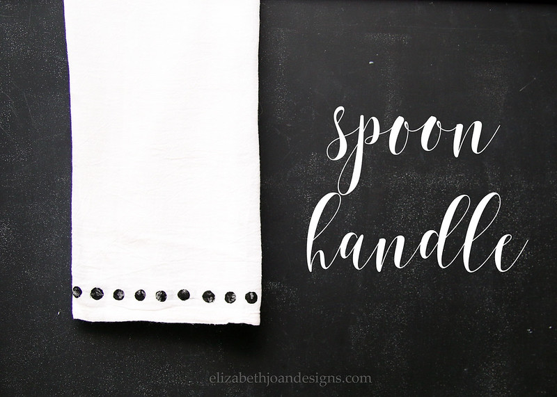Spoon Handle Stamped Towel