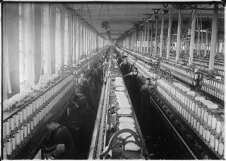 General view of spinning room, Cornell Mill, Fall River, Mass, January 1912 | by The U.S. National Archives